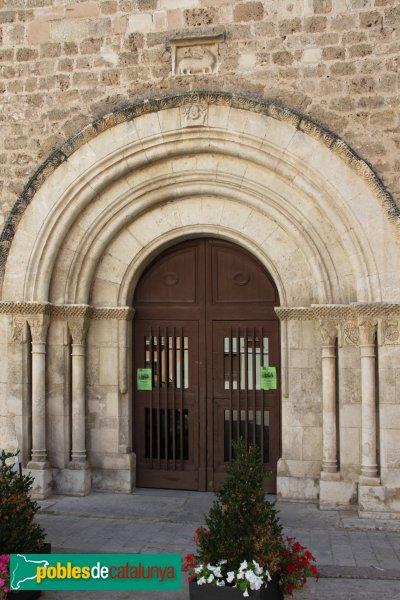 Sant Pere de Riudebitlles - Església, portada romànica