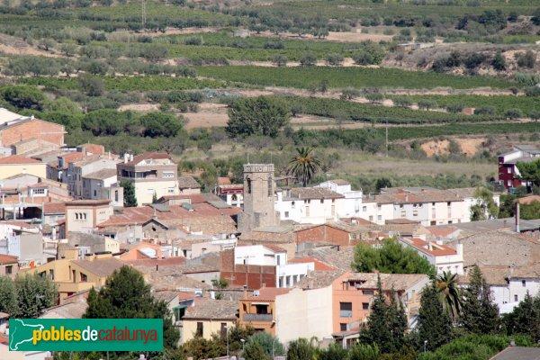 Sant Pere de Riudebitlles - L'església des de Sant Jeroni