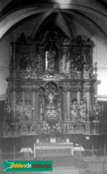 Sant Pere de Riudebitlles - Retaule barroc cremat l'any 1936