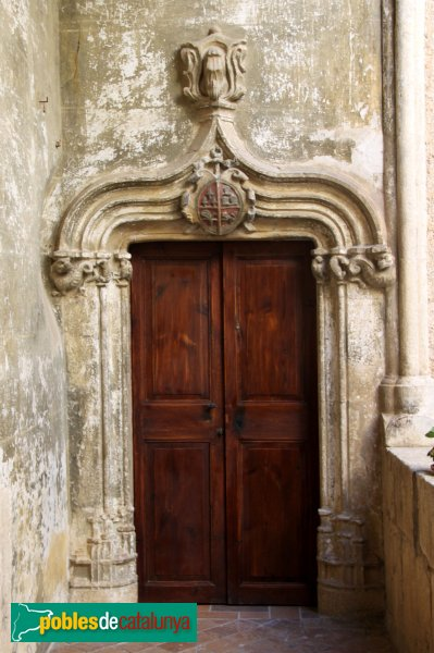 Subirats - Palau Gralla (Torre-ramona) porta a la planta noble