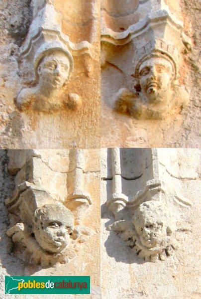 Subirats - Palau Gralla (Torre-ramona), mènsules dels finestrals