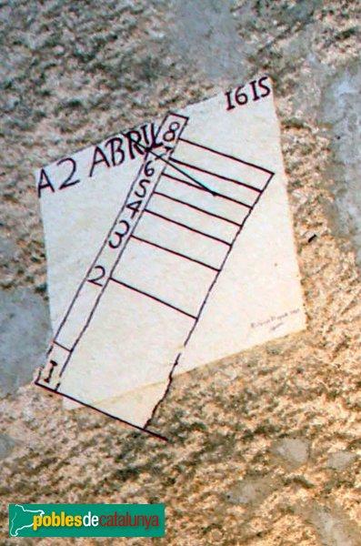 Subirats - Palau Gralla (Torre-ramona), rellotge de sol