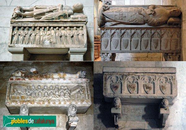 Vilafranca del Penedès - Església de Sant Francesc, sepulcres gòtics