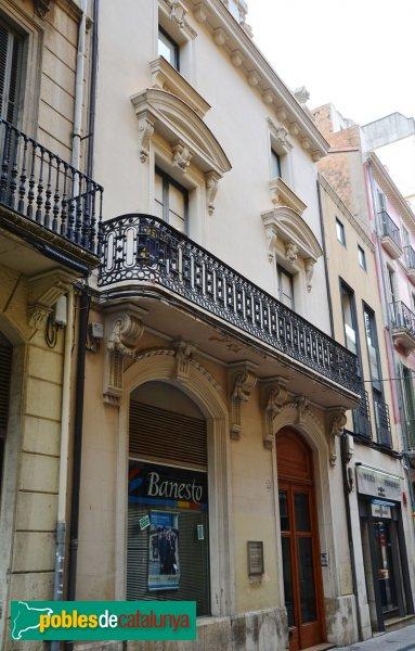Vilafranca del Penedès - Casa Cañas i Mañé, façana posterior