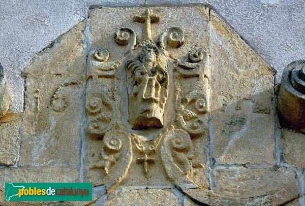 Santa Fe del Penedès - Església de Santa Maria, detall amb la data