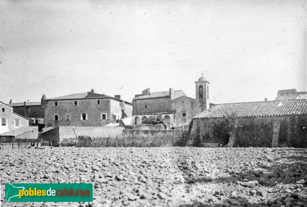 Ventalló - Panoràmica de Montiró, amb el Palau i l´església