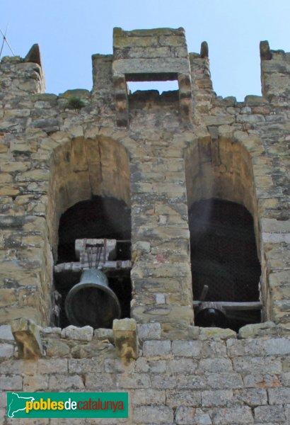 Saus - Església de Santa Eugènia, matacà del campanar