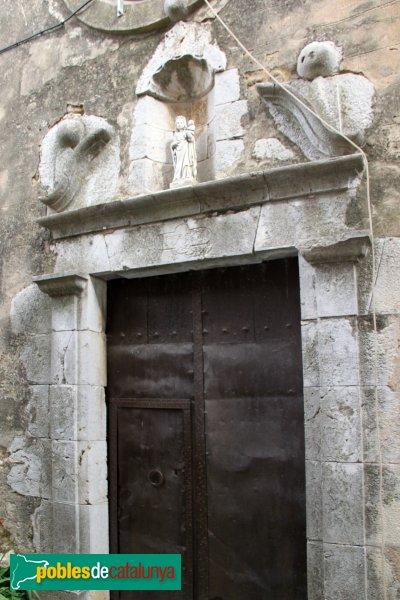 Garrigàs - Santa Maria d´Ermedàs, porta barroca
