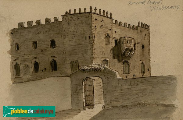 Viladecans - Torre del Baró, gravat antic