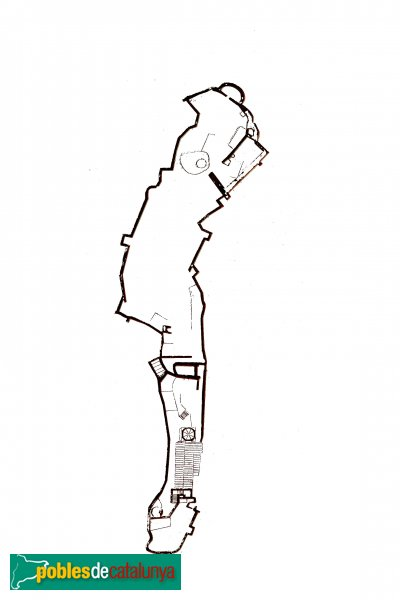 Gelida - Castell, planta