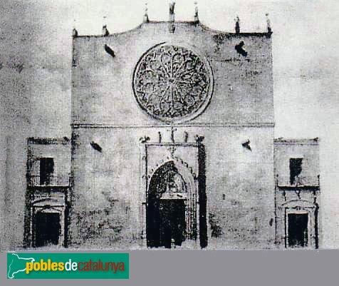 Barcelona - Convent de Sant Agustí, abans de l´enderrocament