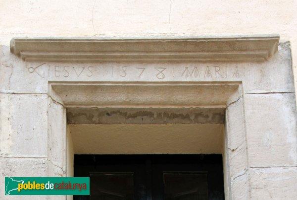 Mediona - Cal Marquès, llinda del segle XVI