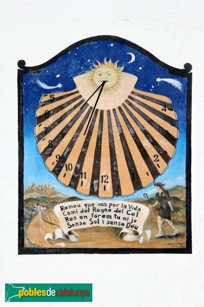 Font-rubí - Mas Romeu, rellotge de sol