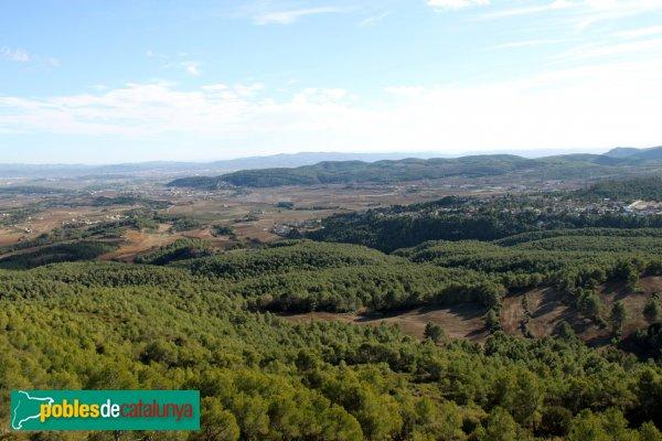 Torrelles de Foix - Panoràmica des del Castell de Foix