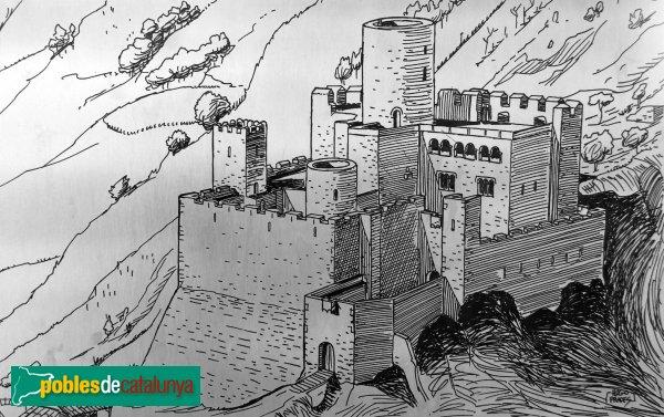 Castellet i la Gornal - Castell de Castellet, reproducció idealitzada del segle XIV
