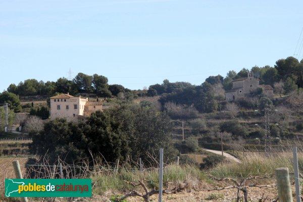 Santa Margarida i els Monjos - Casal i església de Penyafel