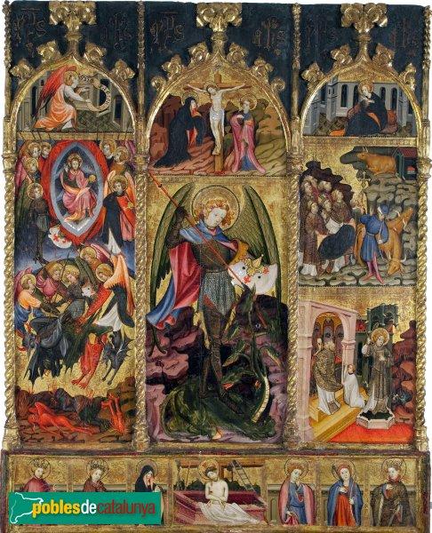 Santa Margarida i els Monjos - Santa Maria de Penyafel, retaule de Sant Miquel