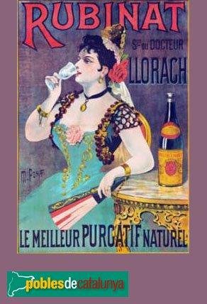 Ribera d'Ondara - Cartell publicitari de les Aigües Rubinat-Llorach