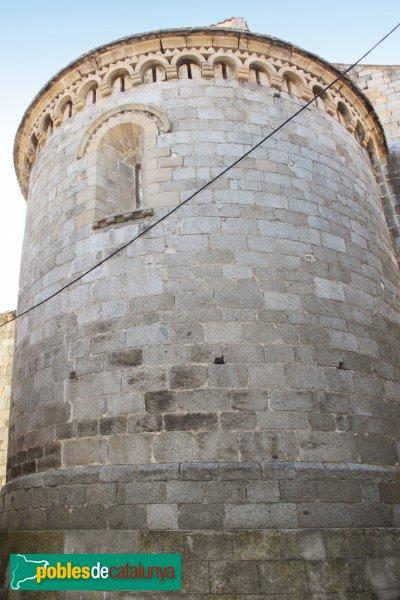 Agullana - Església de Santa Maria, l'absis