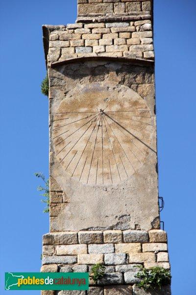 Agullana - Església de Santa Maria, rellotge de sol