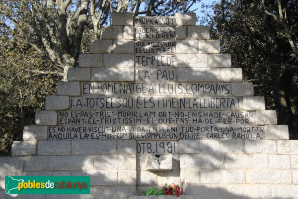 Agullana - Monument a Companys
