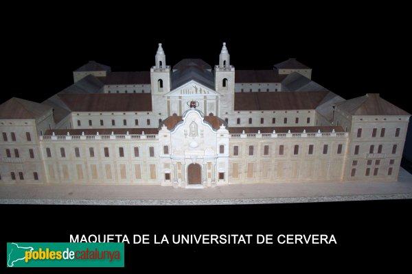 Cervera - Universitat, maqueta