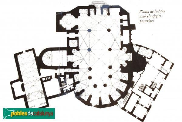 Cervera - Església de Santa Maria, planta