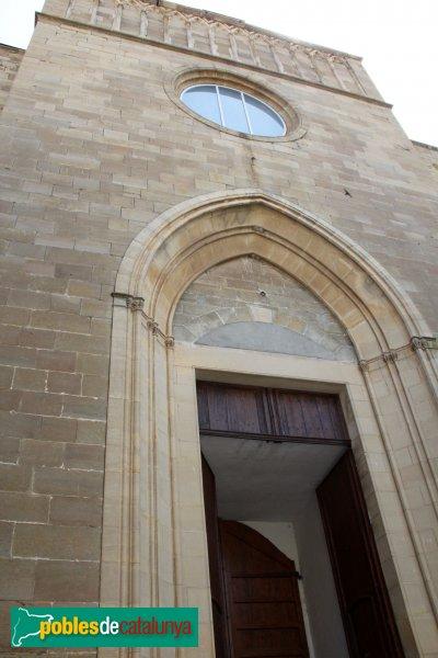 Cervera - Església de Santa Maria, façana neogòtica