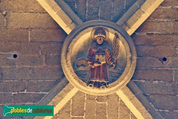 Sant Feliu de Guíxols - Església, clau de volta amb sant Feliu