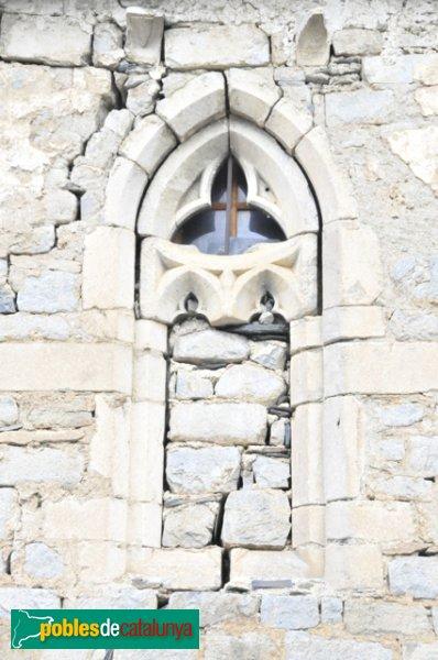 Església de Santa Eulàlia a Unha - Finestra gòtica tapiada