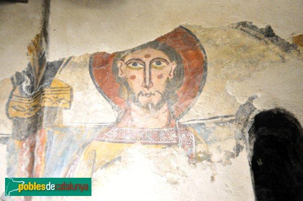 Església de Santa Eulàlia a Unha - Pantòcrator de l'absis: un dels Sants (o membre del col·legi cardenalici)
