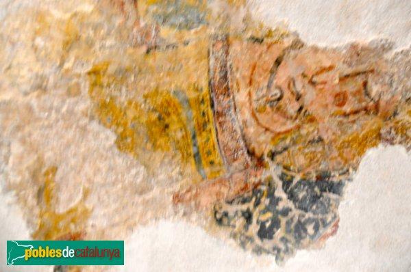 Església de Santa Eulàlia a Unha - Pantòcrator de l'absis: restes de la representació de Crist