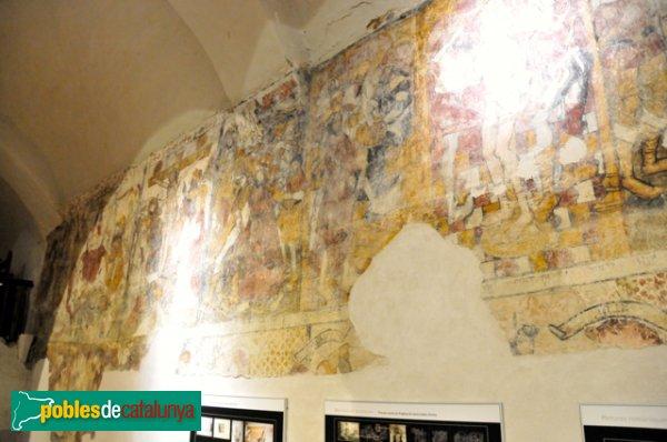 Església de Santa Eulàlia a Unha - Pintures murals a la paret Nord