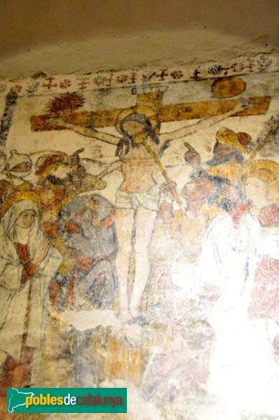 Església de Santa Eulàlia a Unha - Pintura de Crist Crucificat