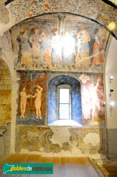 Església de Santa Eulàlia a Unha - Pintures renaixentistes representant les Virtuts