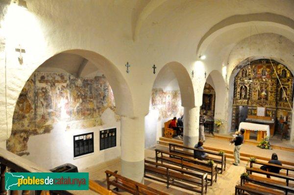 Església de Santa Eulàlia a Unha - Interior de l'església