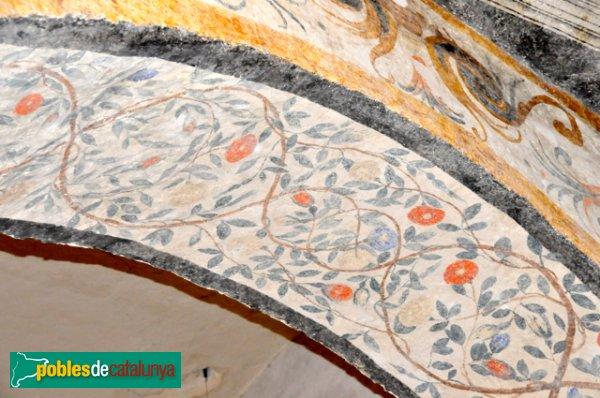 Església de Santa Eulàlia a Unha - Pintura d'un dels arcs