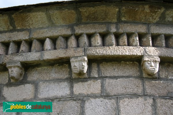 Bolvir - Santa Cecília, detall absis