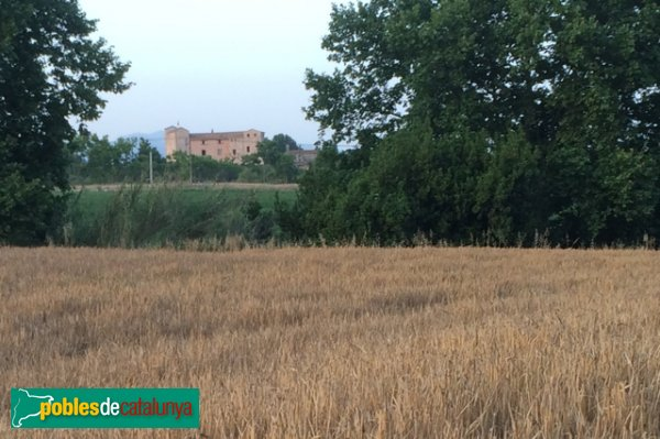 Castell de Sentmenat i camp de cereals