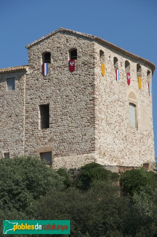 Castell decorat durant fira medieval