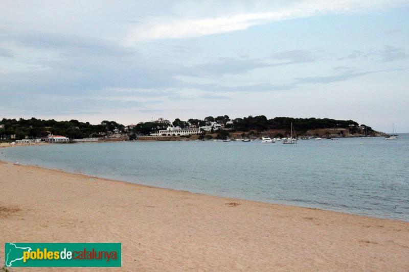 S'Agaró, des de la platja de Sant Pol