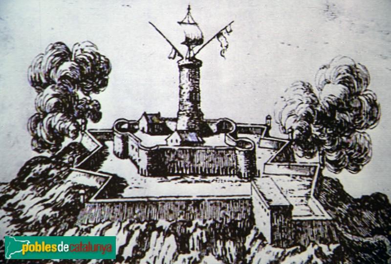 Barcelona - Castell de Montjuïc. A Malleson-Mallet (Beaulieu), c. 1696. AHCB