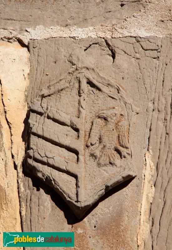 Plans de Sió - Castell de l'Aranyó, escut dels Folcràs