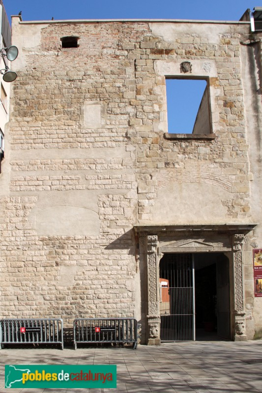 Barcelona - Convent de Sant Agustí, façana de la plaça de l'Acadèmia