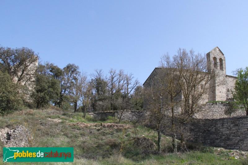 Estaràs - Santa Maria de Gàver i castell, a l'esquerra