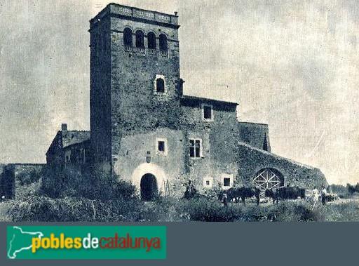 Corçà - Torre Guinarda, postal antiga