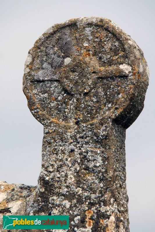 Biosca - Sant Pere Sasserra, estela funerària