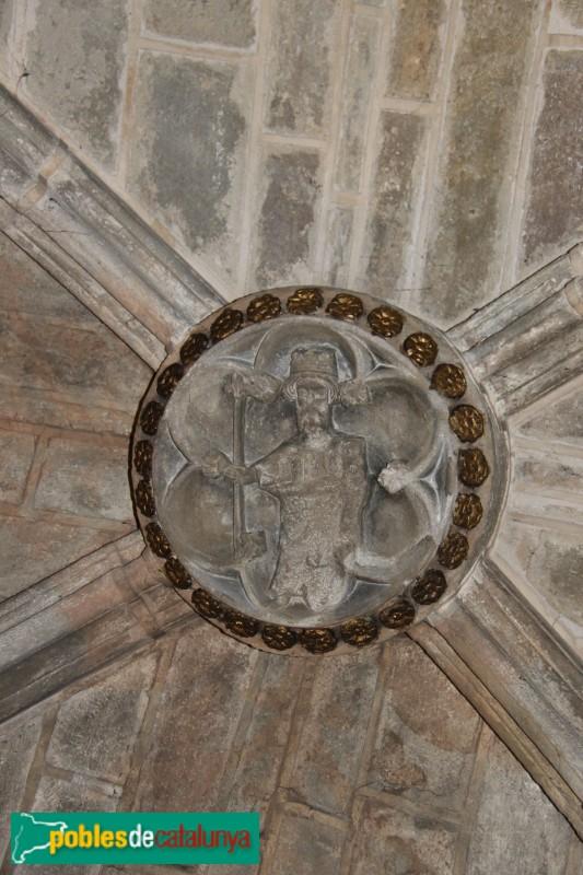 Sanaüja - Santa Maria de la Plaça, clau de volta