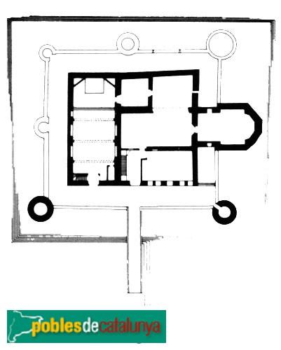 Bellcaire d'Empordà - Planta del Castell