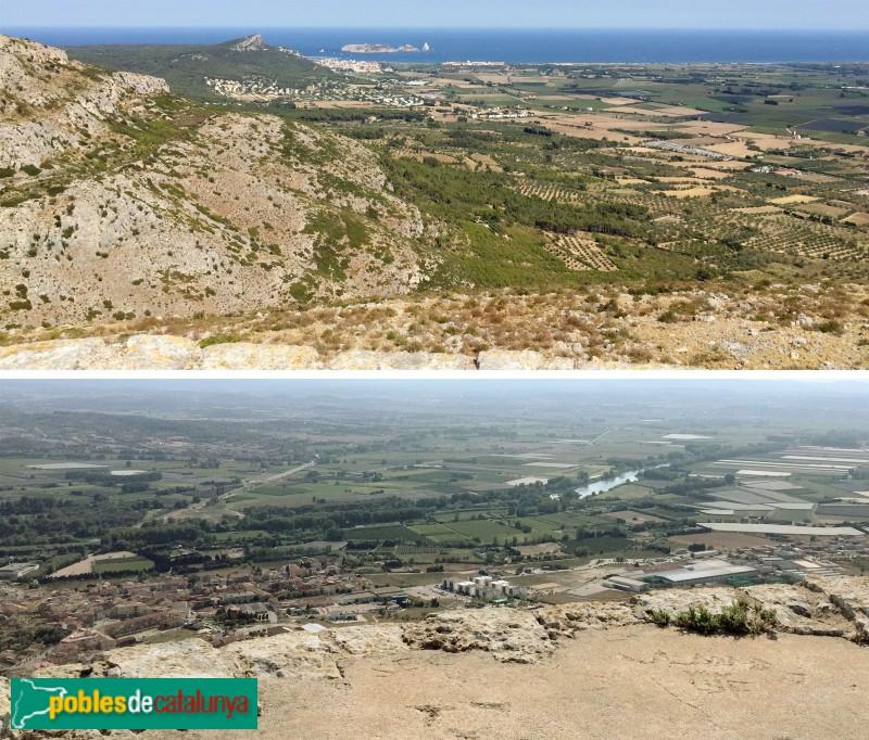 Torroella de Montgrí - Dues panoràmiques des del Castell de Montgrí